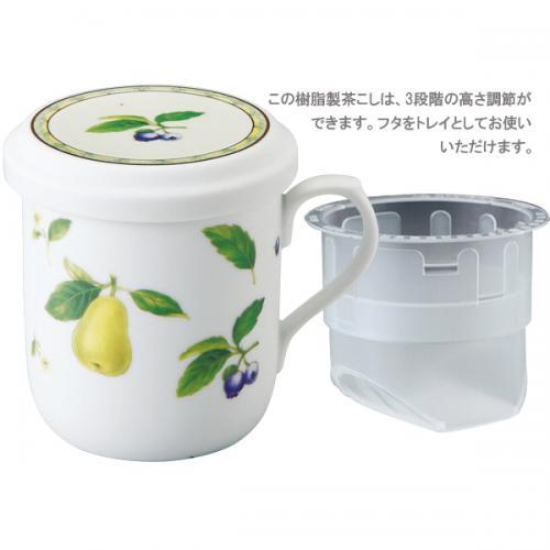ナルミ(NARUMI)フタ付マグカップ(果物) 290cc(40978-32930)