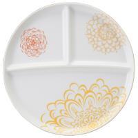 ナルミ(NARUMI)Day+ ラウンド仕切り皿(イエロー) 24cm(41282-5939)