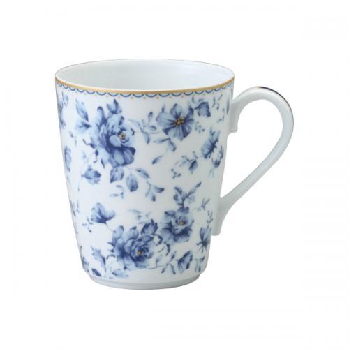 ナルミ(NARUMI)マグカップ(ブルーフラワー) 300cc(41373-6152)