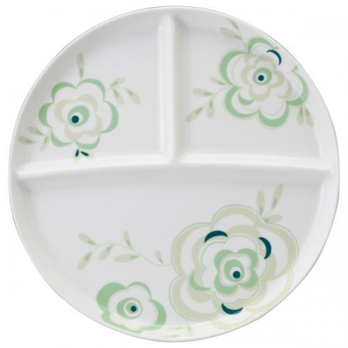 ナルミ(NARUMI)Day+ ラウンド仕切り皿(グリーン) 24cm(41533-5939)
