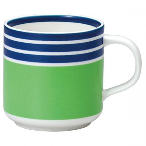 ナルミ(NARUMI)Day+ マグカップ(グリーン&ブルー) 350cc(41670-6348)