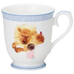 ナルミ(NARUMI)いわさきちひろ マグカップ(見つめあうライオンと女の子) 290cc(51903-2635)