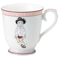 ナルミ(NARUMI)いわさきちひろ マグカップ(こげ茶色の帽子の少女) 290cc(50673-2635)