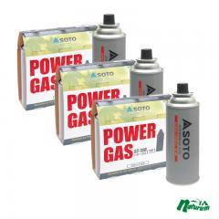 SOTO ガス燃料 パワーガス 3本パック×3【お得な3点セット】