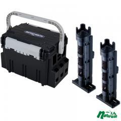 メイホウ タックルボックス ★バケットマウスBM-5000+ロッドスタンド BM-250 Light 2本組セット★   ブラック/クリアブラック×ブラック