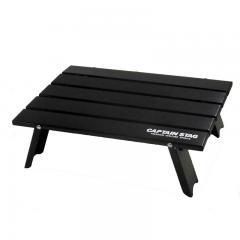 キャプテンスタッグ アウトドアテーブル 【限定カラー】アルミロールテーブル(コンパクト)   ブラック