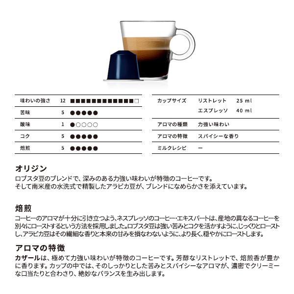カザール 1本(10個入) ネスプレッソ専用カプセル(インテンソ)