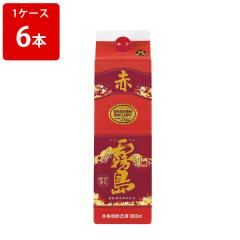 5%OFFクーポン対象商品 赤霧島 芋焼酎 25度 ケース売り チューパック 1800ml×6本 クーポンコード:V6DZHN5
