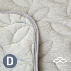 あったかシルキー&やわらかパイル リバーシブル敷きパッド ダブルサイズ オールシーズン使える敷パッド ベッドパッド フランネル シンカーパイル グレー