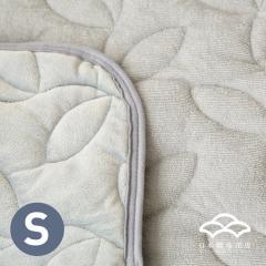 あったかシルキー&やわらかパイル リバーシブル敷きパッド シングルサイズ オールシーズン使える敷パッド ベッドパッド フランネル シンカーパイル グレー