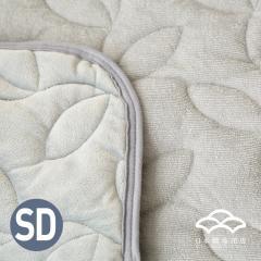 あったかシルキー&やわらかパイル リバーシブル敷きパッド セミダブルサイズ オールシーズン使える敷パッド ベッドパッド フランネル シンカーパイル グレー