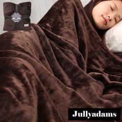 Jullyadams 毛布 ブランケット シングルサイズ クッションにもなるブランケット 軽くてあったかフランネル毛布 無地ブラウン