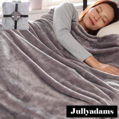 Jullyadams 毛布 ブランケット セミダブルサイズ クッションにもなるブランケット 軽くてあったかフランネル毛布 無地グレー