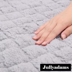 Jullyadams あったかシープボア敷きパッド シングルサイズ わた入りベッドパッド 吸湿発熱 抗菌防臭 HEATWARM TripleWarm グレー