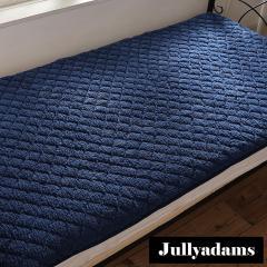 Jullyadams あったかシープボア敷きパッド シングルサイズ わた入りベッドパッド 吸湿発熱 抗菌防臭 HEATWARM TripleWarm ネイビー