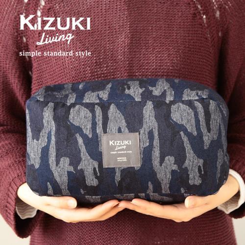 ゆる寝ビーズ枕 デニムニット・カモフラージュ柄 【日本橋布団店】 【KIZUKI Living】