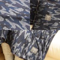 kizuki living ゆる寝ダウンマルチケット デニムニット・カモフラージュ柄 Sサイズ/70×100cm