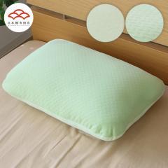 もっちりまくら  新触感クリーミータッチ 高反発 枕<高反発ウレタンチップ×マイクロわた>35×55cm