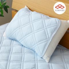 ひんやりまくらパッド 接触冷感 タッチクール Q-max値0.4 高通気・ムレにくく快適な夏用ピローパッド 枕パッド まくらカバー 枕カバー