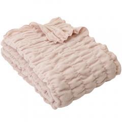 ふわもこケット シングル 140×200cm ネットオリジナル オーガニックコットン PK 毛布 ブランケット 快眠 昭和西川 36.5%OFF済み アウトレット 数量限定