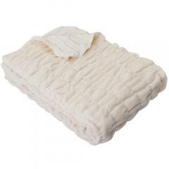 ふわもこケット シングル 140×200cm ネットオリジナル オーガニックコットン IV 毛布 ブランケット 快眠 昭和西川 36.5%OFF済み アウトレット 数量限定