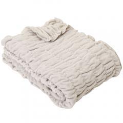ふわもこケット シングル 140×200cm ネットオリジナル オーガニックコットン GY 毛布 ブランケット 快眠 昭和西川 36.5%OFF済み アウトレット 数量限定