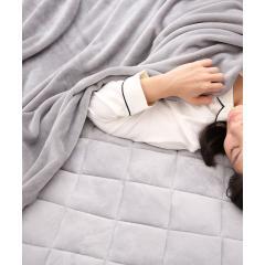 ニューマイヤー毛布 Dサイズ ダブル 180×200cm ネットオリジナル ソリッド GY 快眠 昭和西川