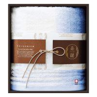 ギフト 糸縒 ITOYORI グラデーション フェイスタオル1枚 BL [昭和西川] [日本製]