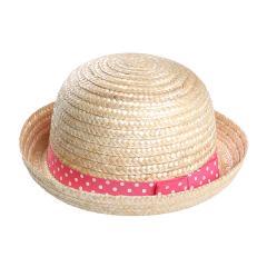 842e780d77909 天然帽子(水玉柄) ピンク 48 5%OFFクーポン利用可能