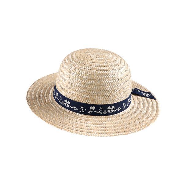 fef3b5940c662 LOHACO - 天然帽子(イカリ柄) ネイビー 52 (キッズ服・靴) 西松屋 ...