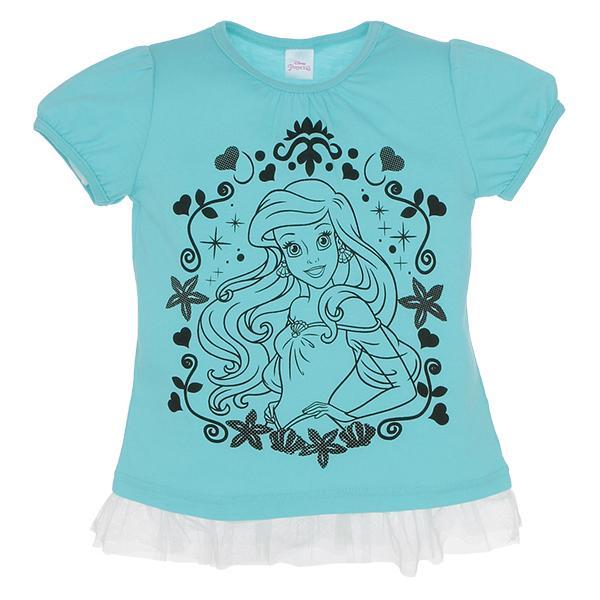90f932f57b349b LOHACO - 【値下げしました!】[ディズニー]プリンセス半袖Tシャツ ...