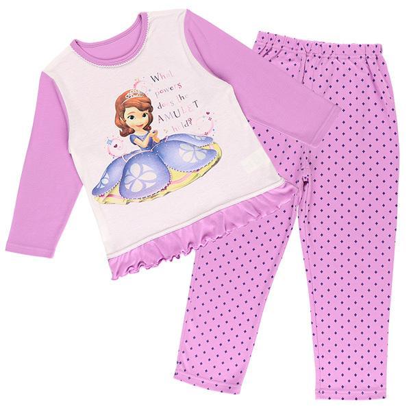 9c0d759cc403da LOHACO - [ディズニー]小さなプリンセスソフィア長袖パジャマ裾フリル ...