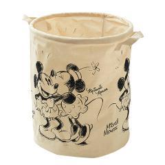 [ディズニー]SmartAngel)筒型コットンバスケット(ミッキーマウス&ミニーマウス