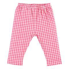 [EFC]ギンガムチェック柄7分丈パンツ ピンク/ブラック ピンク 90