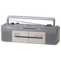 【送料無料】AudioComm Wラジカセ 簡単テープダビング ワイドFM 補完放送対応 RCS-W877M 07-9726