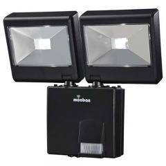 LEDセンサーライト 乾電池式 2灯 monban LS-B224D-K 07-8282