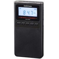 【送料無料】AudioComm 録音機能付ラジオ ブラック ワイドFM 補完放送対応 RAD-F830Z-K 07-8370