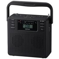 【期間限定特価】【送料無料】AudioComm ステレオCDラジオ ブラック ワイドFM 補完放送対応 RCR-400H-K 07-8331【家電MP_GP】