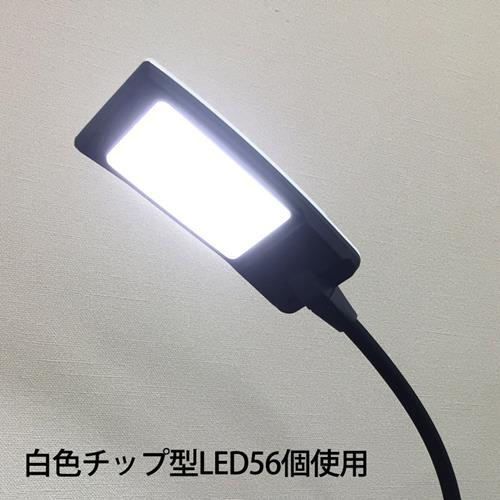 LEDデスクスタンド 6段調光 黒_ODS-L24G-K 07-8040