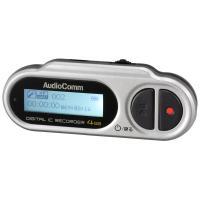 送料無料 AudioComm ミニICレコーダー 4GB ICR-U114N 09-3012
