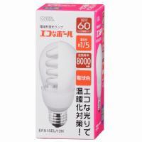 エコなボール 電球形蛍光灯 一般電球形 E26 60形相当 電球色 EFA15EL/12N OHM 04-5420