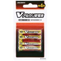 OHM Vアルカリ電池単4形 4本パック LR03/B4P/V