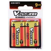 アルカリ乾電池 9V形 2本入 6LR61/B2P/V 07-9716