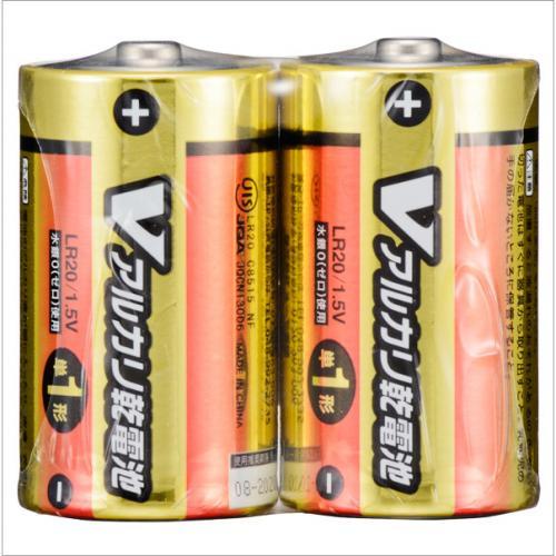 単1形 Vアルカリ乾電池 2本入_LR20/S2P/V 07-9937