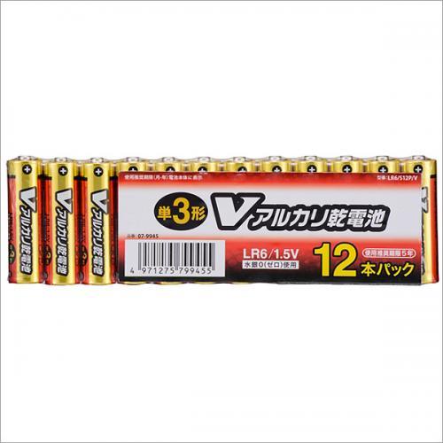 単3形 Vアルカリ乾電池 12本入_LR6/S12P/V 07-9945