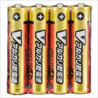 単4形 Vアルカリ乾電池 4本入 LR03/S4P/V 07-9947