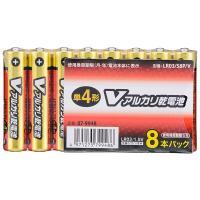 単4形 Vアルカリ乾電池 8本入 LR03/S8P/V 07-9948