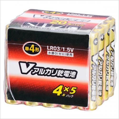 単4形 Vアルカリ乾電池 20本入 LR03/S20P/V 07-9950