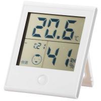 時計付き温湿度計 ホワイト インフルエンザ 熱中症対策 温度計 湿度計 TEM-200-W 08-0020 OHM