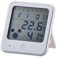 温湿度計 インフルエンザ熱中症計 ホワイト インフルエンザ TEM-300-W 08-0025 OHM